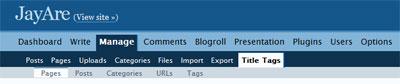 Wordpress SEO title tag plugin