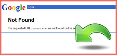 404 Error Page Not Found page on Google