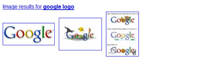 Google universal search: images