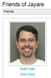 Matt Cutts friend on Wikia