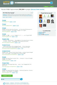 Wikia search result page (SERP)