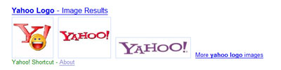 Yahoo! universal search: images