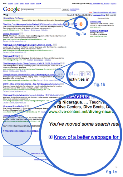 Google SERP experiment