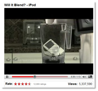 "Blendtec ""Will it Blend?"" on YouTube"